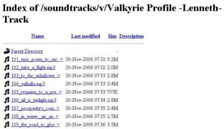 Una simple búsqueda de Google para encontrar archivos MP3 en descarga directa.