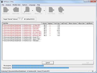 Gracias a MP3Gain, los MP3 con diferencias en nivel de volumen ya no serán problema.