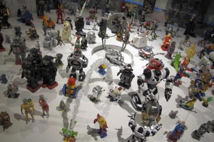 Una de las exposiciones muestra a todos los robots creados para el entretenimiento.