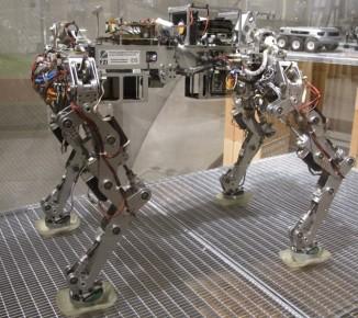 Este robot, pensado con fines militares, es uno de los más avanzados si se trata de cargar equipamiento pesado por terrenos difíciles. Incluso es capaz de recuperarse de empujones, resbaladas y caminar sobre hielo.