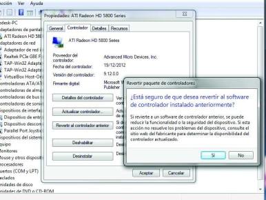 El rollback en Windows es ideal para, rápidamente, reparar problemas con drivers experimentales.