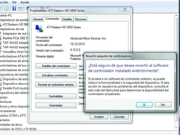 Windows c mo volver a un atiguo controlador redusers for Como se escribe beta