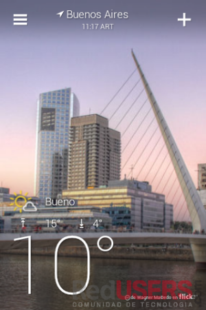 Así se ve el clima en Buenos Aires.