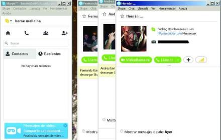 La vista compacta vuelve más cómodo el uso de Skype (y algo similar al viejo Messenger).