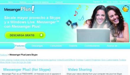 Messenger plus! agrega, de forma gratuita, una buena cantidad de utilidades a Skype.