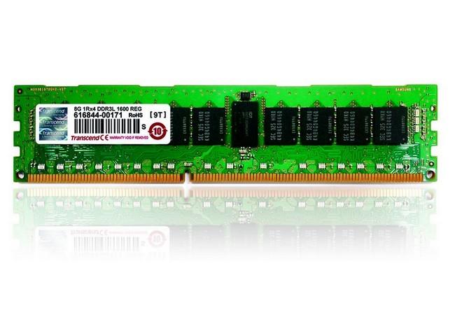 Las memorias RDIMM de Transcend tienen una frecuencia de reloj de 1.600 MHz