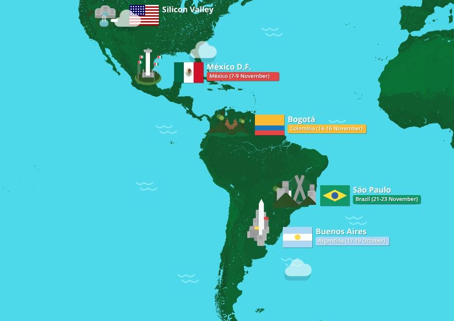 El Developer Bus de google pasará por San Pablo, Bogotá y México DF.