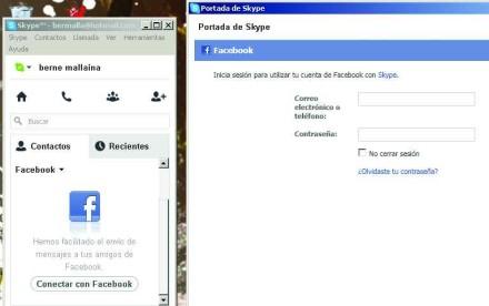 Con nuestra cuenta de Facebook podremos aprovechar los contactos de la red social para llamadas de Skype.