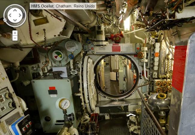 google street view en el interior de un submarino militar