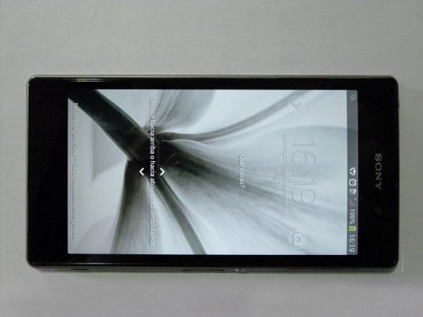 La excelente calidad de la pantalla se observa con claridad (de frente).
