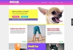 Así es la página de Quam.