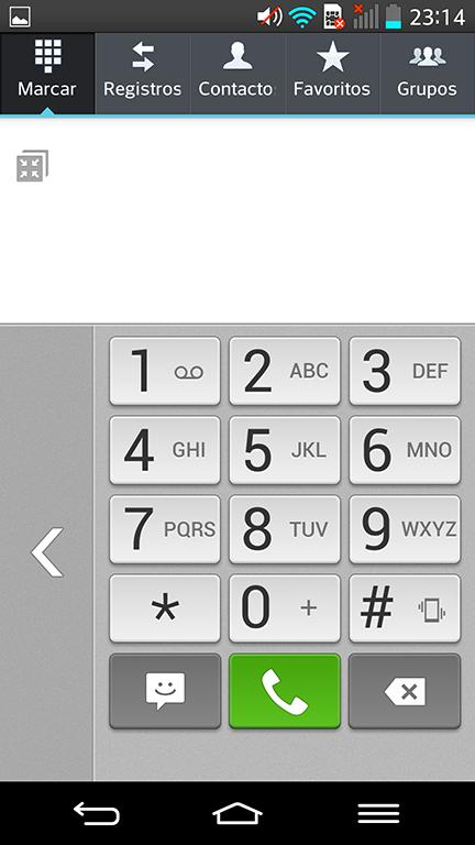 La posibilidad de modificar la posición del marcador o teclado en la pantalla, nos permite utilizar el teléfono con una sola mano cómodamente.