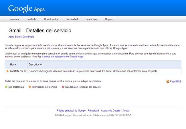 El servicio de gmail est fuera de servicio redusers for Fuera de oficina gmail