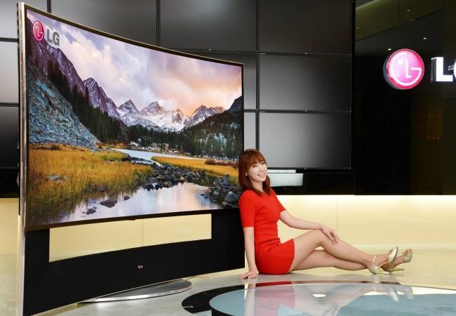 ces 2014 lg sorprende con un televisor 4k curvo de 105 pulgadas redusers. Black Bedroom Furniture Sets. Home Design Ideas
