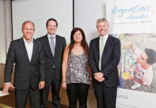 Alejandro Anderlic, Jorge Cella, Roxana Morduchowicz y Sebastián Palacios