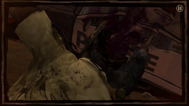 Como se observa en esta imagen del juego The walking dead, la baja resolución se hace notar.