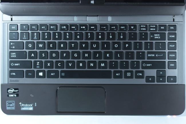 El formato del teclado es bastante convencional.