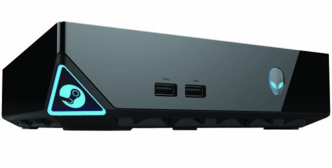 Aquí tenemos a la Steam Machine de Alienware. Vistosa, elegante y gamer.