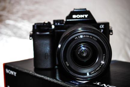 Vista frontal del lente Kit 28 - 70 mm