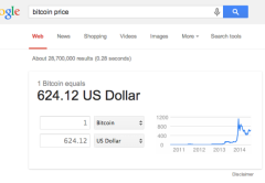 El buscador facilitará una conversión rápida de la moneda local al bitcoin.