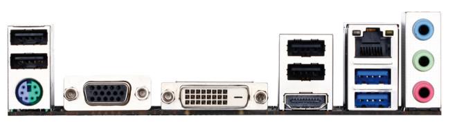 El panel trasero ofrece salida de video 4K a través del puerto HDMI 1.4A. No obstante, no ofrece salida DisplayPort ni audio S/PDIF.