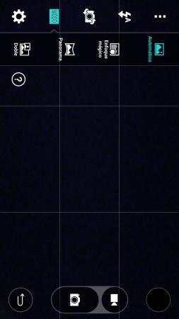 La nueva interfaz, mucho más simple, de la aplicación de cámara.