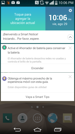 Ejemplo de notificaciones inteligentes.