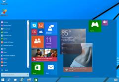 El nuevo sistema operativo parece retomar mucho del windows 8 con algunos ajustes en la disposición de las aplicaciones modernas.