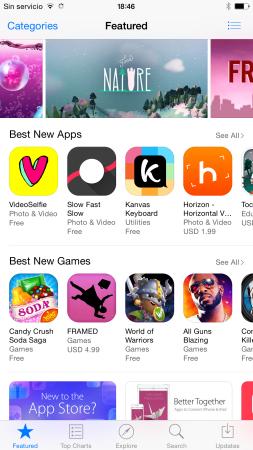 Una de los mejores aspectos de cualquier iPhone, la AppStore.