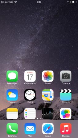 """Asi se """"baja"""" la pantalla para que alcancemos los iconos superiores."""
