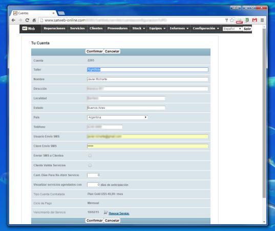 Como puntapié inicial debemos completar los datos de nuestro usuario principal, con el cual nos registramos.