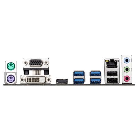 En el panel trasero se destacan las salidas de video y cuatro puertos USB 3.0.