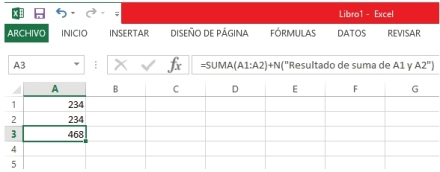 No es necesario anidar la función N, sino simplemente agregarla como una suma a la fórmula lista.
