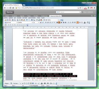 El procesador de textos Write, incluido en Cloud Office, tiene todo lo que necesitemos... y más.