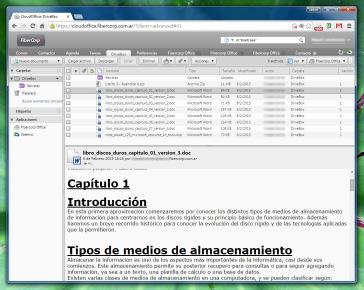 DriveBox lista nuestros archivos subidos como si se tratara de mensajes de correo.