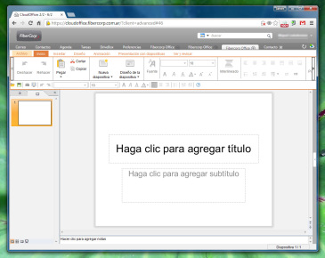 Show es la app para presentación de diapositivas. Si usamos PowerPoint alguna vez no tendremos que aprender a usar Show.