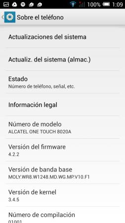 La versión de Android en todo su esplendor.