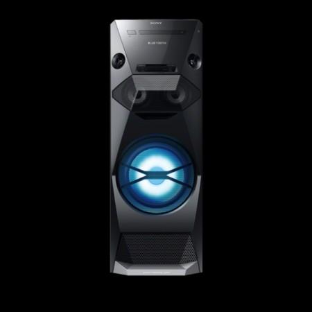 Vista frontal del Sony V5, con iluminación led del woofer