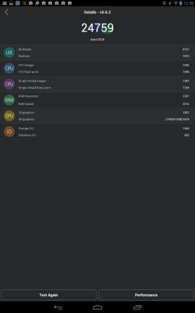 Test de performance de AnTuTu.