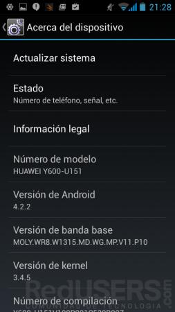 Versión de Android.