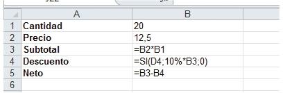 En esta planilla se ha activado la modalidad [Mostrar fórmulas]. Las celdas muestran las fórmulas que contienen, y no, sus resultados actuales.
