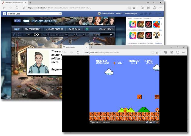 Tanto los videojuegos dependientes de Flash Player, como los que corren íntegramente en HTML5, se comportaron de una manera aceptable y ágil.