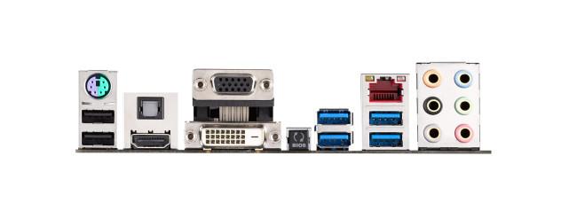 El panel trasero presenta las salidas de video de distinto tipo y también una salida de audio s/PDIF para 7.1 canales.