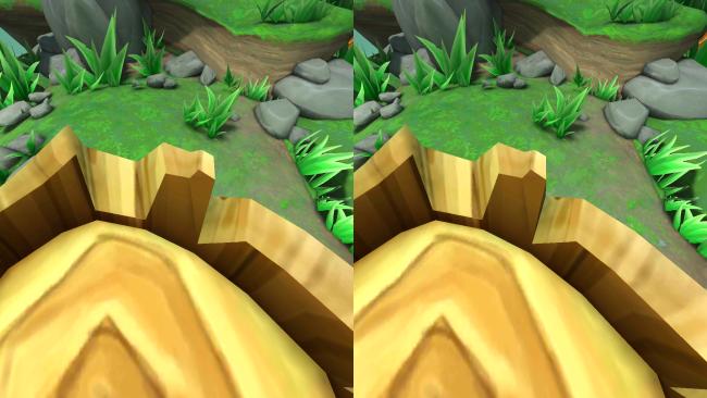 Cardboard: Lamper Dive (vista del videojuego)