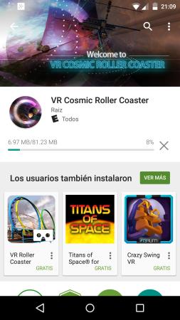 Cardboard: VR Cosmic Roller Coaster.