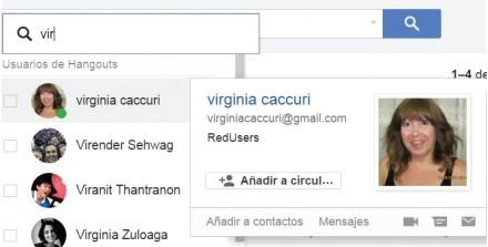 Accedemos la cuenta de Gmail. Para iniciar una conversación con un contacto disponible, en el panel lateral hacemos clic sobre el nombre del contacto. También se hacer clic en la lupa para buscar un contacto. En la ventana emergente seleccionamos uno o varios.