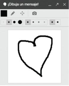 Si hacemos clic en [Adjuntar una foto] se abre una página para buscar archivos de imagen en el equipo, en álbumes en línea o tomar una instantánea con la cámara web. Al acercar el mouse a [Adjuntar una foto] veremos que a la izquierda aparece un lápiz. Con él podemos realizar un dibujo a mano alzada.