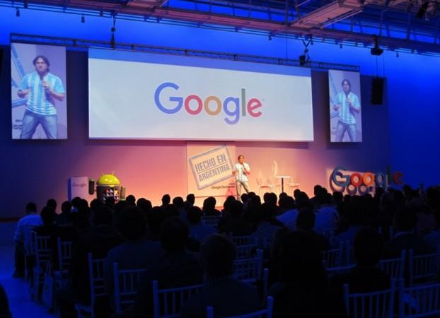 """Nicolás Bortolotti, Developer relations Program Manager para Latinoamérica de Google, durante el """"Hecho en Argentina"""" realizado en la ciudad de Buenos Aires."""