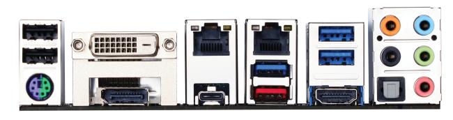 El panel trasero es muy completo. Lo más relevante es el soporte de los puertos USB 3.1 de tipo A y C.