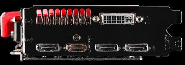 Como salidas tenemos DVI (compatible con adaptadores VGA), HDMI 2.0 y tres puertos DisplayPort.
